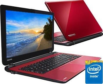 Rød og stilig laptop fra toshiba
