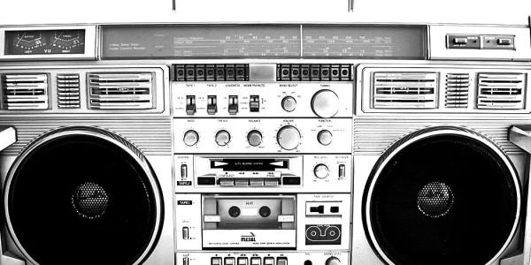 Vintage kassettspiller -Ghetto blaster