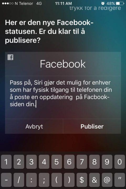 Siri facebook