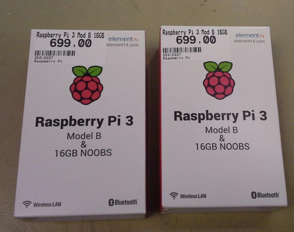 Raspberry pi 3 med preinstallert 16GB minnekort