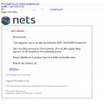 Phishing e-post med Nets som avsender